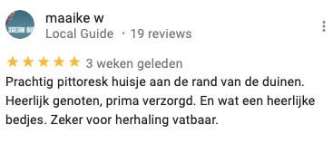 Vakantiehuis Bas Google review