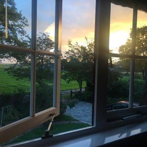 Vakantiehuis Bas Zonsopdergang raam