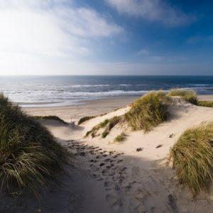 Vakantiehuis Bas doorkijk duinen